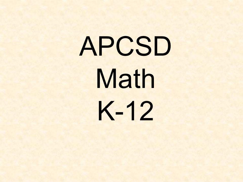 APCSD Math K-12