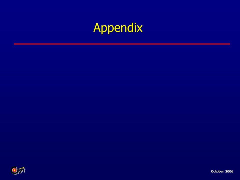 October 2006 Appendix