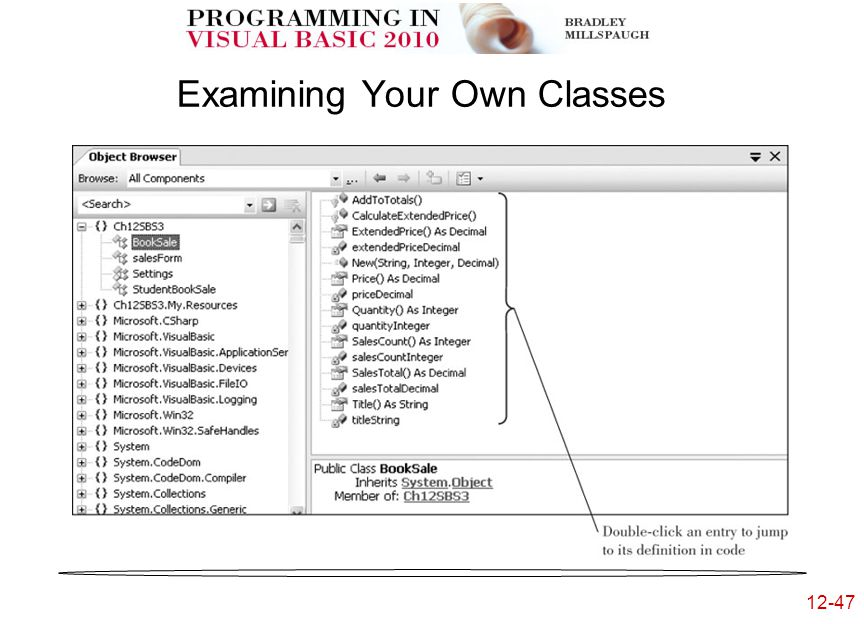 12-47 Examining Your Own Classes