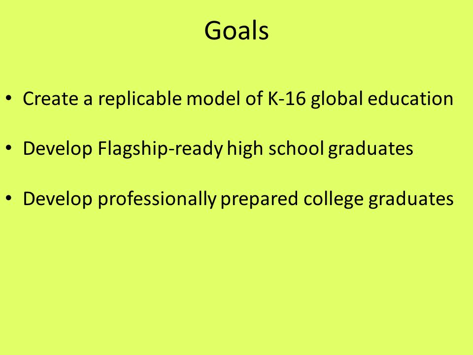 Where Are We Going? K-12 Targeted Outcomes