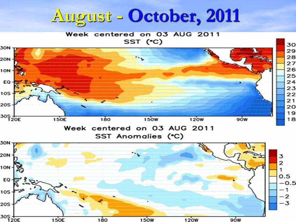 August - October, 2011