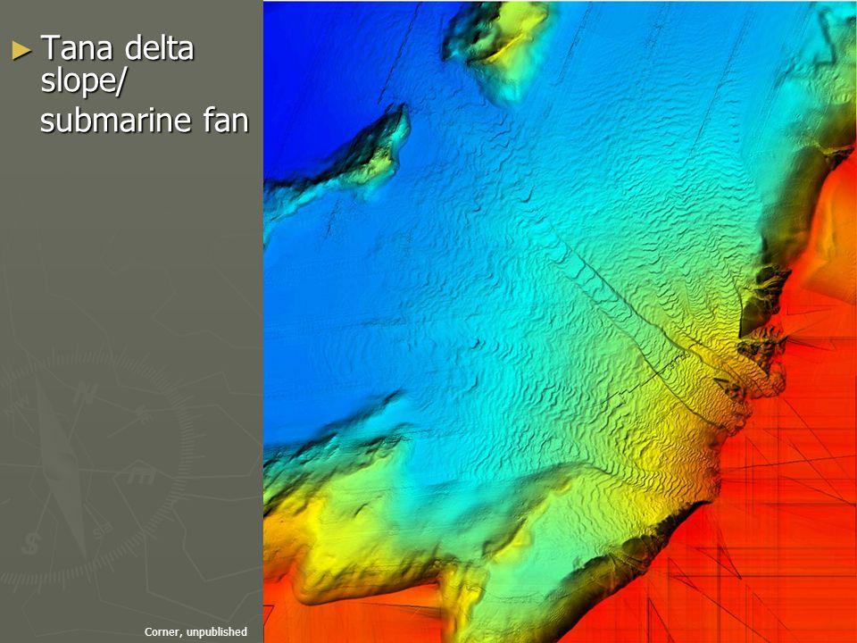 ► Tana delta slope/ submarine fan submarine fan Corner, unpublished