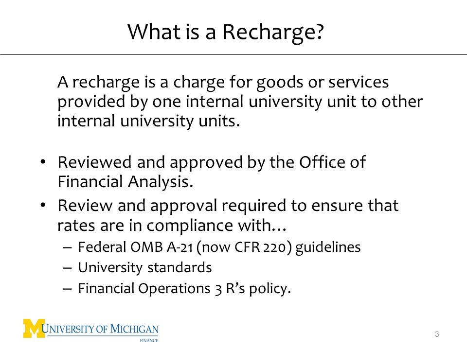 What is a Recharge.