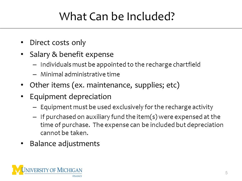 What Cannot be Included.Indirect costs Certain salary expenses – Ex.