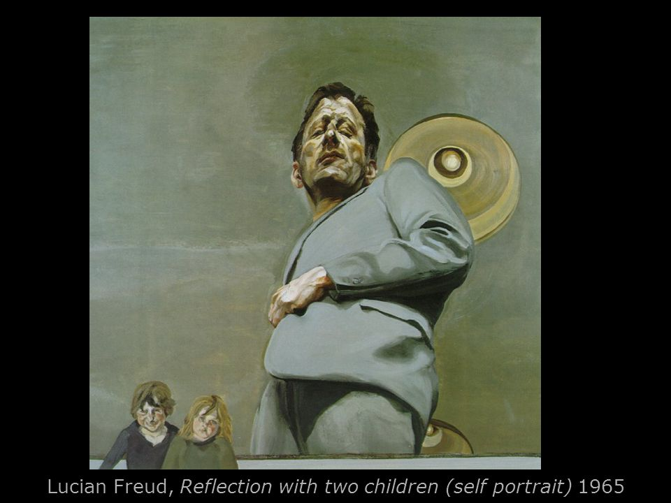 Lucian Freud, Reflection with two children (self portrait) 1965