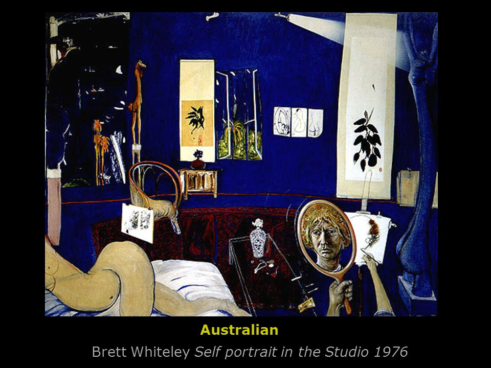 Brett Whiteley Self portrait in the Studio 1976 Australian