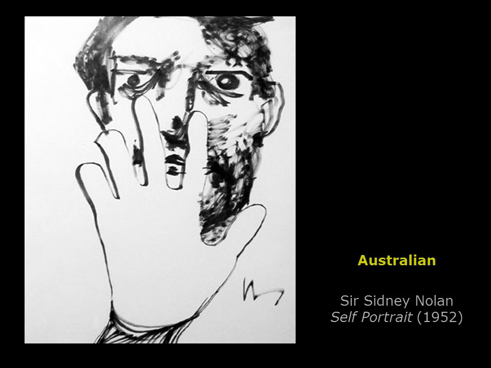 Sir Sidney Nolan Self Portrait (1952) Australian