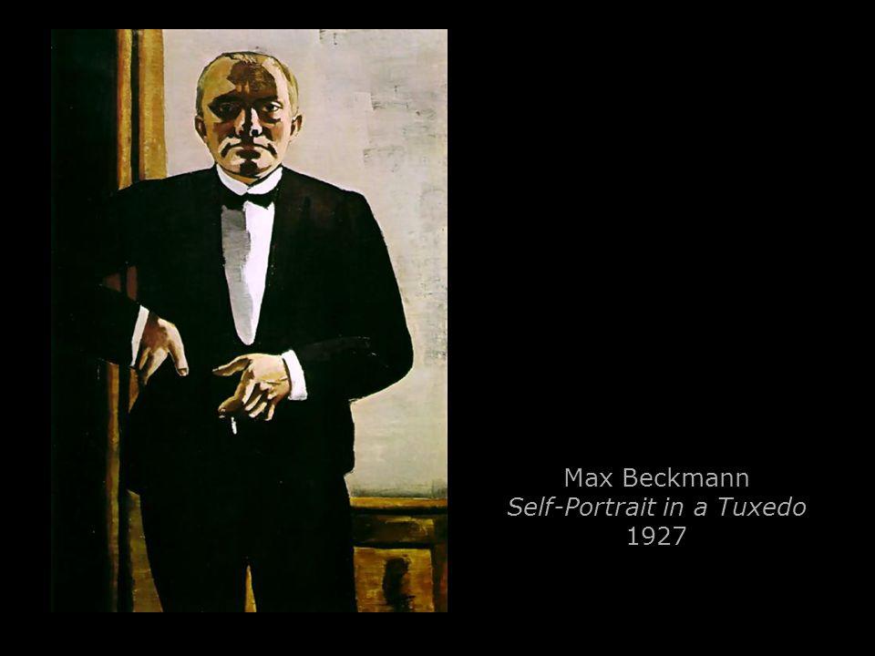 Max Beckmann Self-Portrait in a Tuxedo 1927