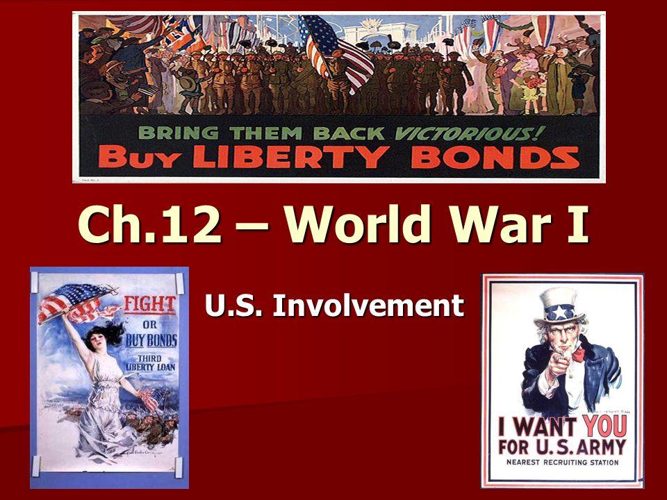 Ch.12 – World War I U.S. Involvement