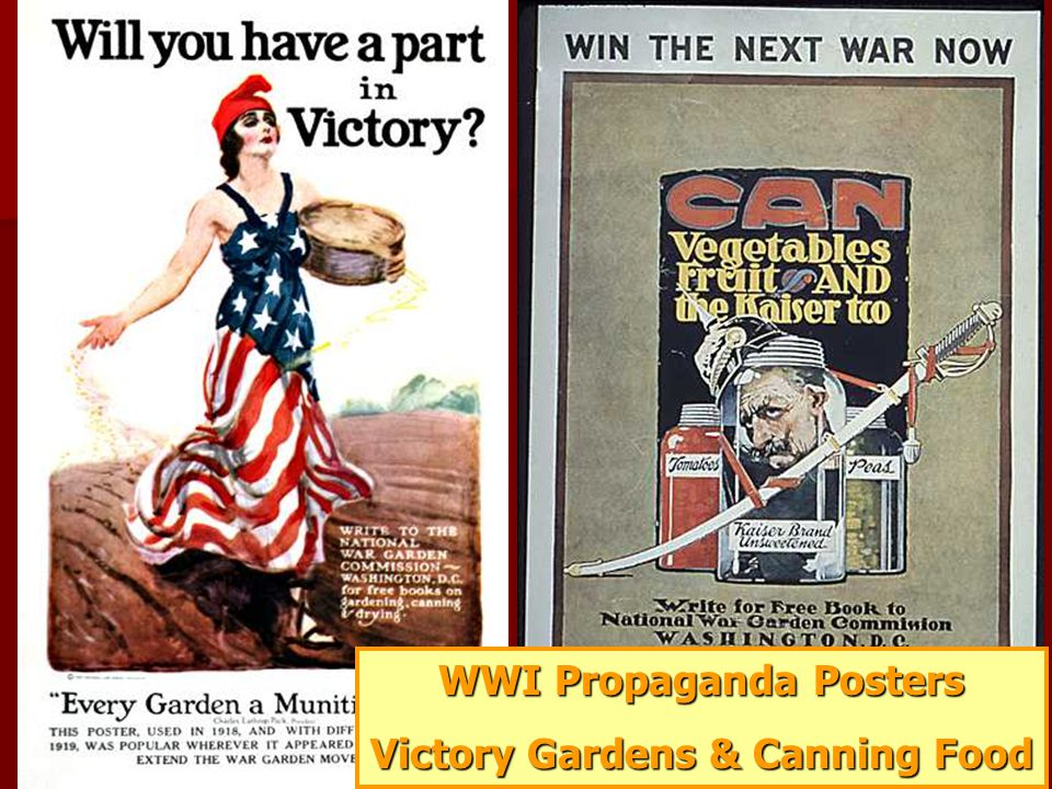 WWI Propaganda Posters Victory Gardens & Canning Food