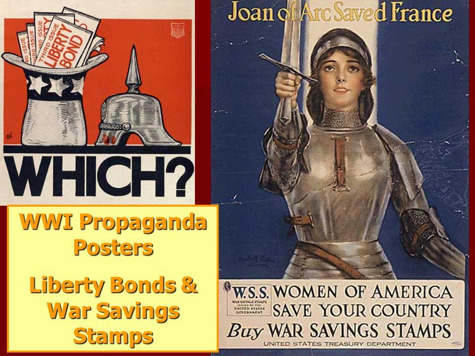 WWI Propaganda Posters Liberty Bonds & War Savings Stamps