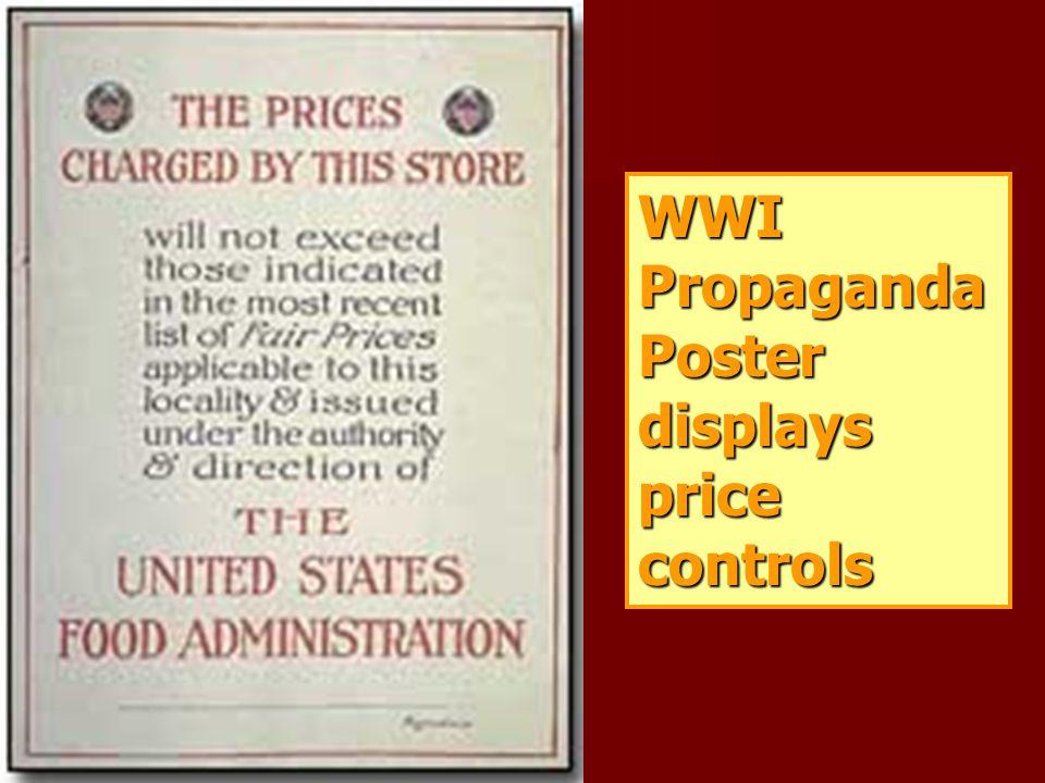 WWI Propaganda Poster displays price controls