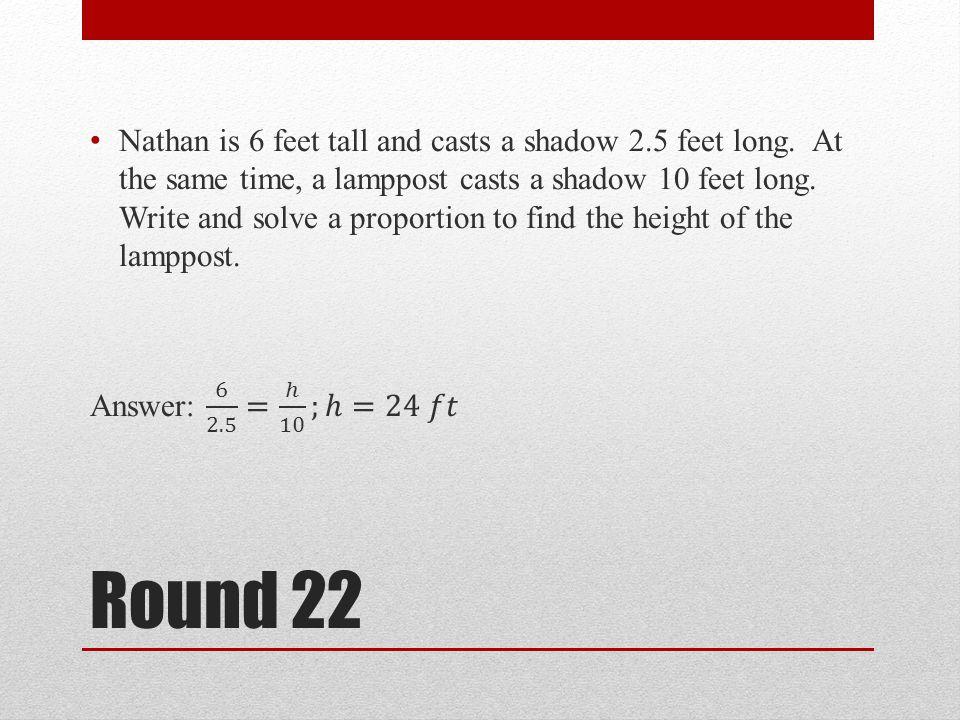 Round 22