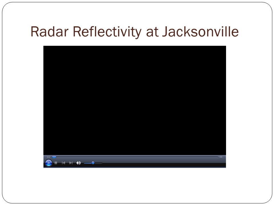 Radar Reflectivity at Jacksonville Radar Imagery of Storm Initialization over Jacksonville, Florida June 18, 2009