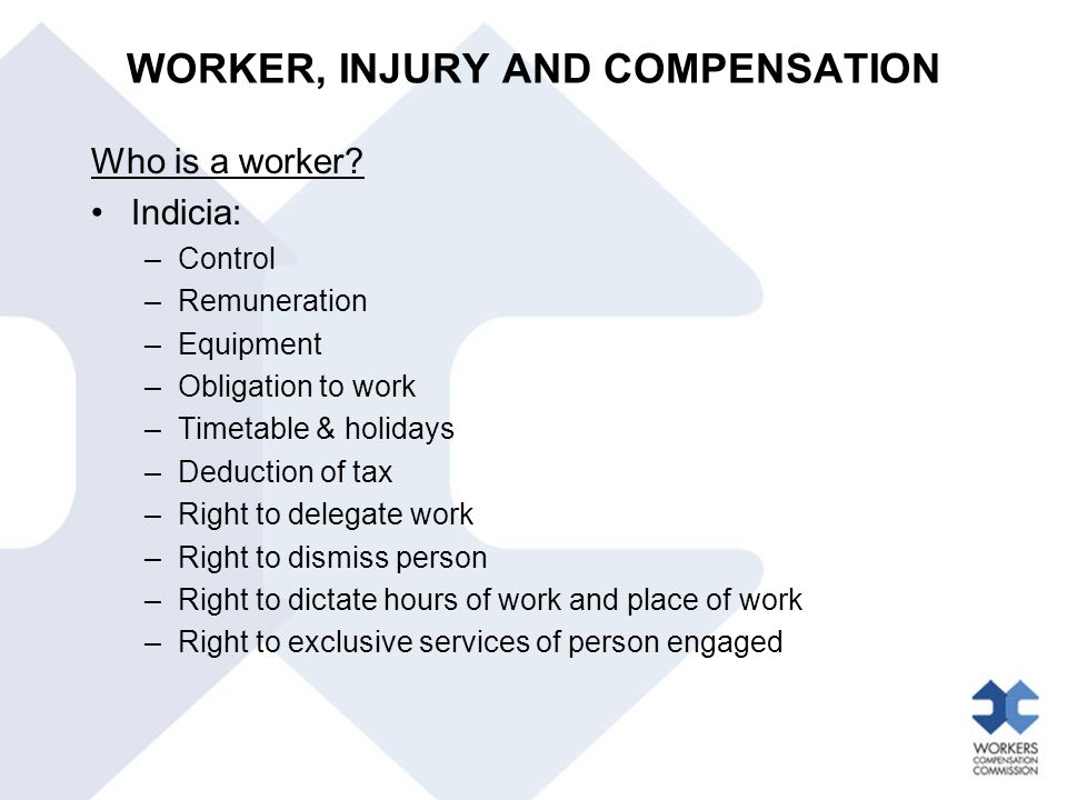 Who is a worker.