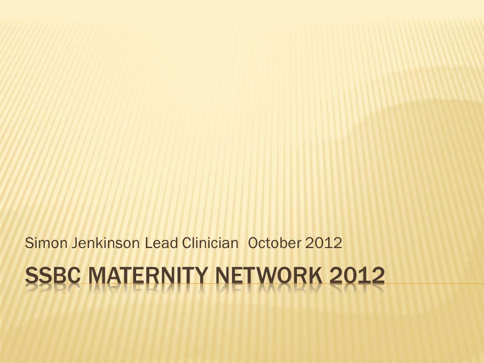 Simon Jenkinson Lead Clinician October 2012