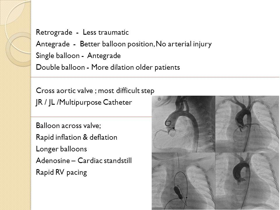 Measure right ventricular and systemic arterial pressures RV angiography with 20-degree cranial angulation & lateral projection Measure pulmonary valve plate diameter Exclude of RV-dependent coronary circulation LV angiography - same projection – Assess Valve plate Nykanen RF perforation wire and the Baylis radiofrequency puncture generator Power setting of 5 W/s Balloon dilation performed Low-profile balloon valvuloplasty catheter- Mini-Tyshak Diameter of about 130% of the valve plate annulus Ductal stenting / surgical shunt – 50%