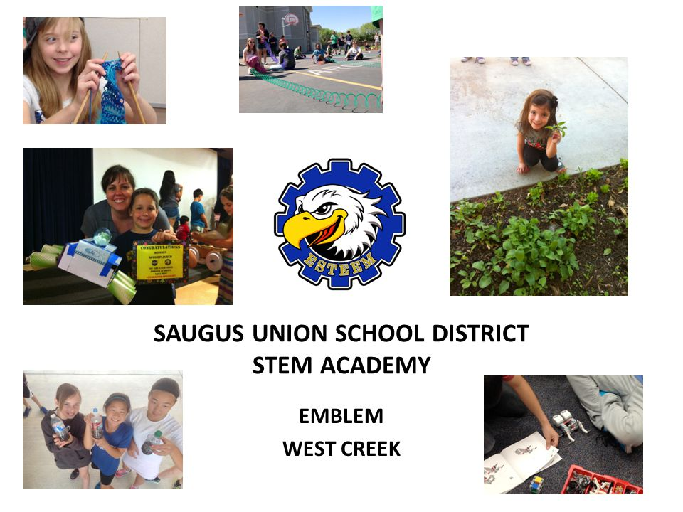 SAUGUS UNION SCHOOL DISTRICT STEM ACADEMY EMBLEM WEST CREEK