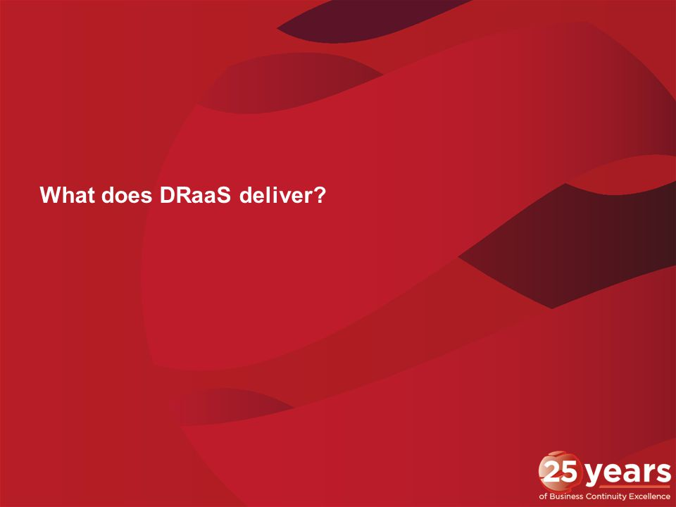 What does DRaaS deliver