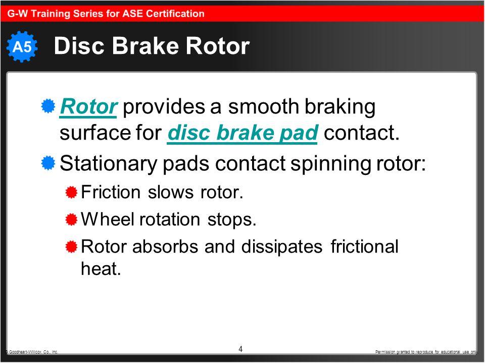 5 Rotor Construction Majority made of cast iron.Sizes vary between vehicles.