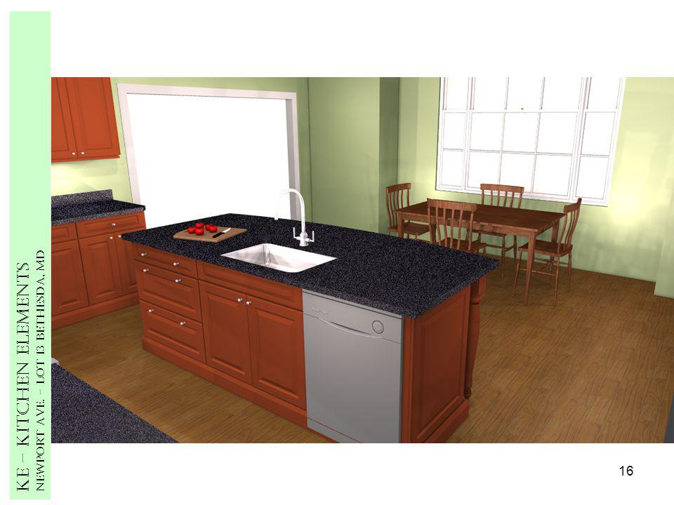16 Ke – Kitchen Elements Newport Ave. – Lot 13 Bethesda, MD