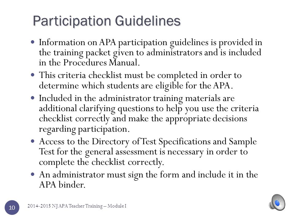 Common Core Standards? For the 2014-2015 APA in Science, students are still assessed on the NJ Core Curriculum Content Standards. Although there are m