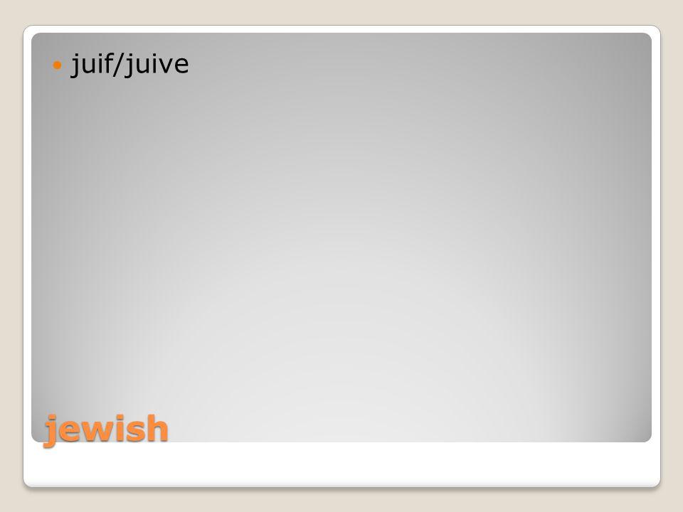 jewish juif/juive
