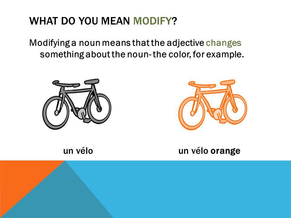 WHAT DO YOU MEAN MODIFY.