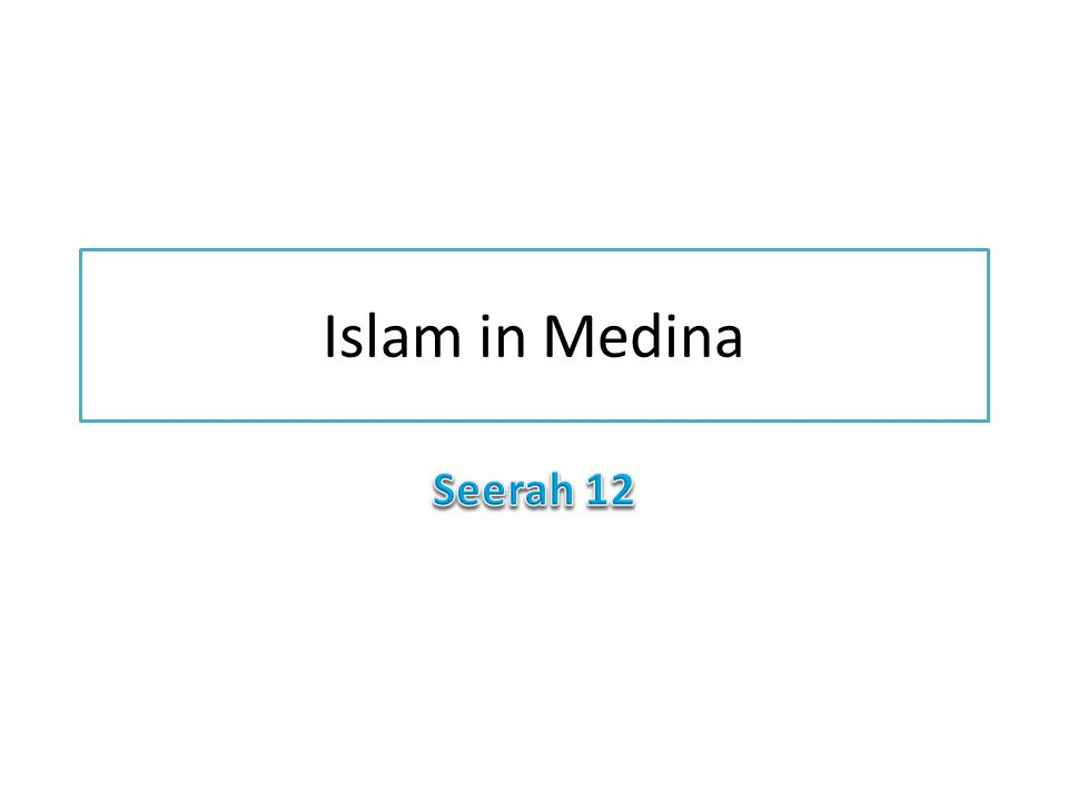 Islam in Medina