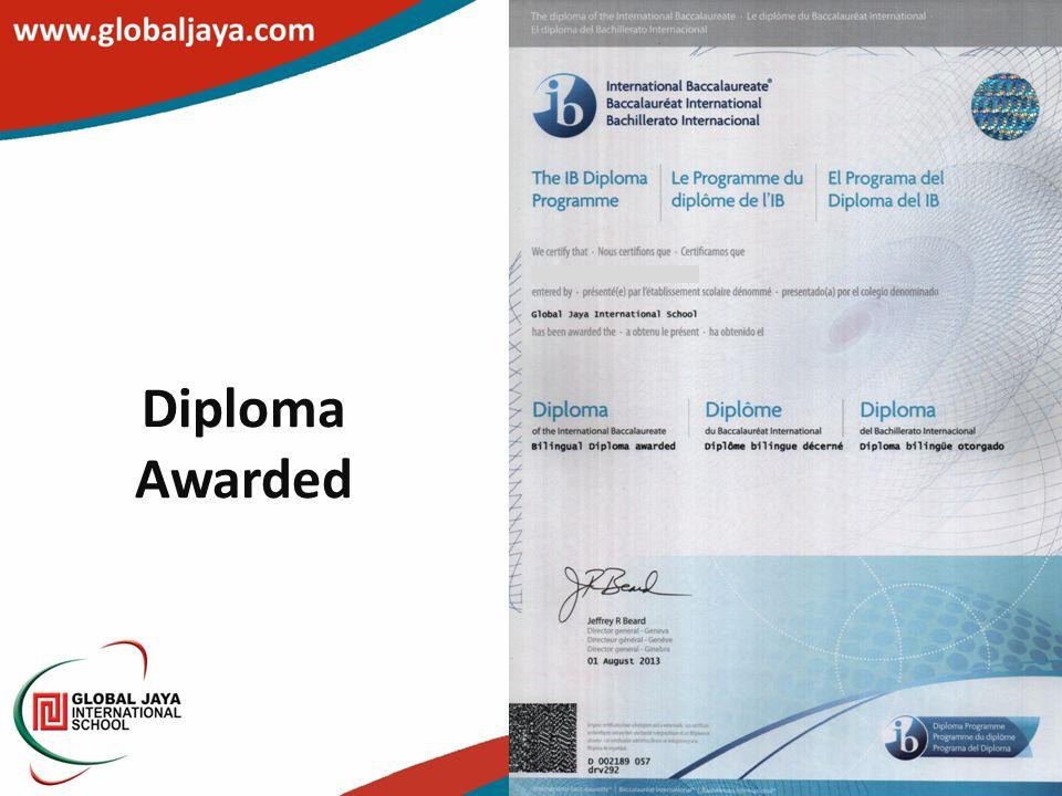 Diploma Awarded