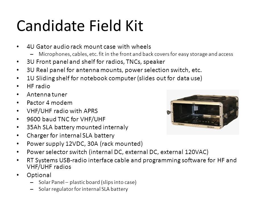 Candidate Field Kit 4U Gator audio rack mount case with wheels – Microphones, cables, etc.