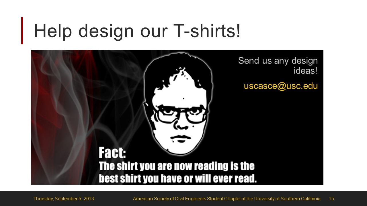 Help design our T-shirts.