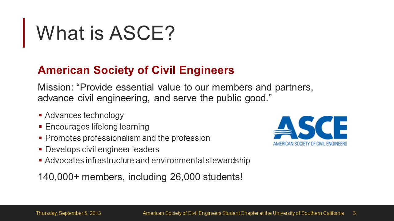 What is ASCE.