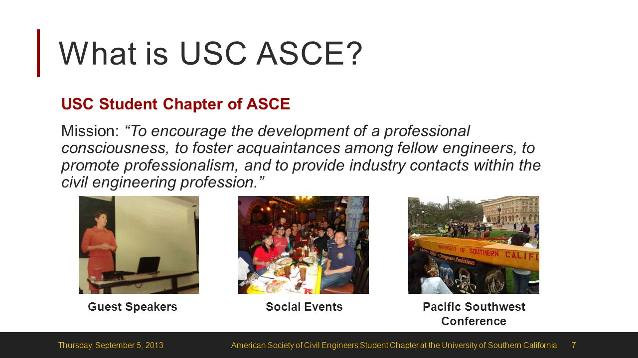 What is USC ASCE.