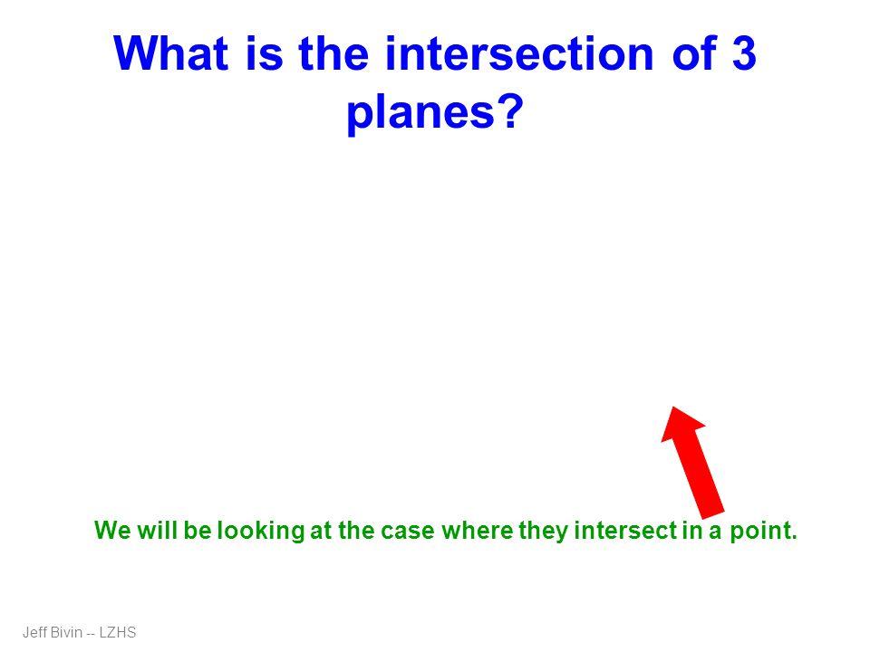 I think I'll do some substitution. 3z = 12 Jeff Bivin -- LZHS 2x + 3y - 5z = 13 - 5y + z = -1