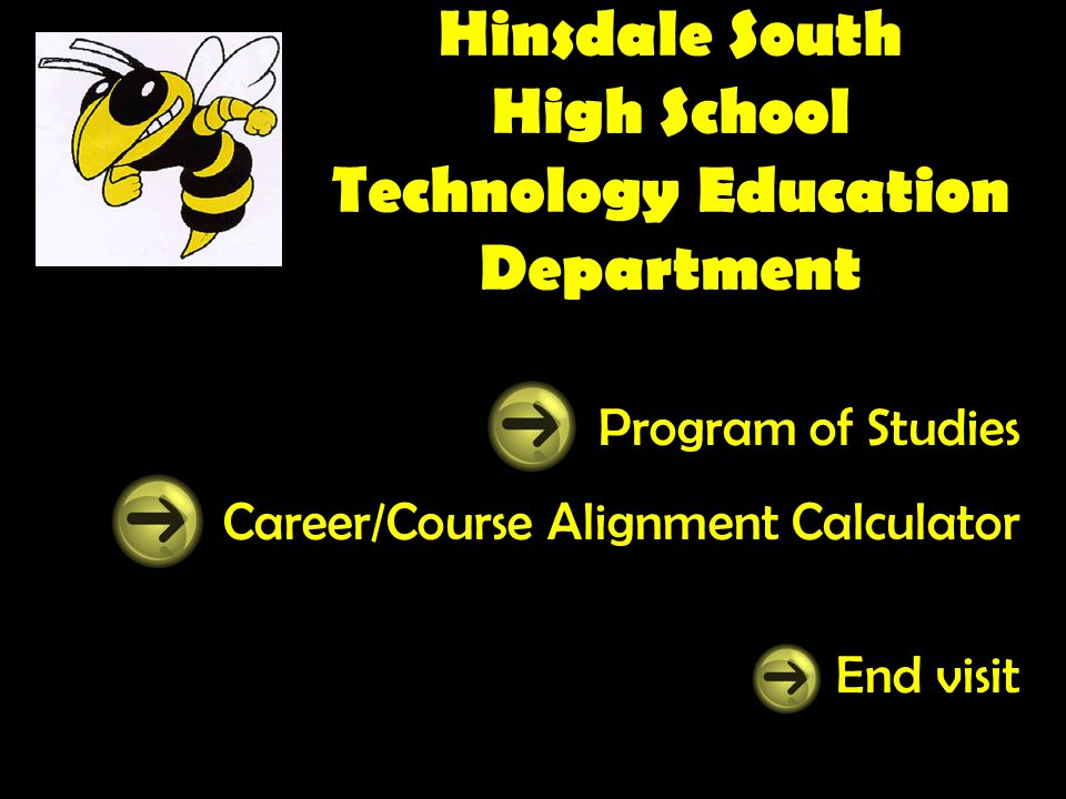 Hinsdale South High School Technology Education Department Program of Studies Career/Course Alignment Calculator End visit
