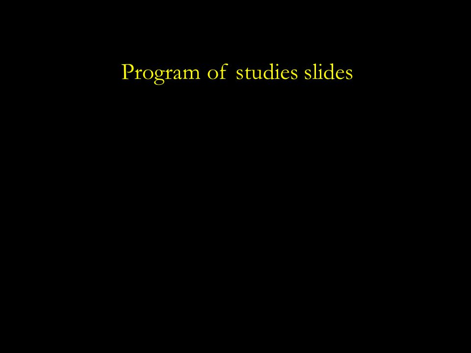 Program of studies slides