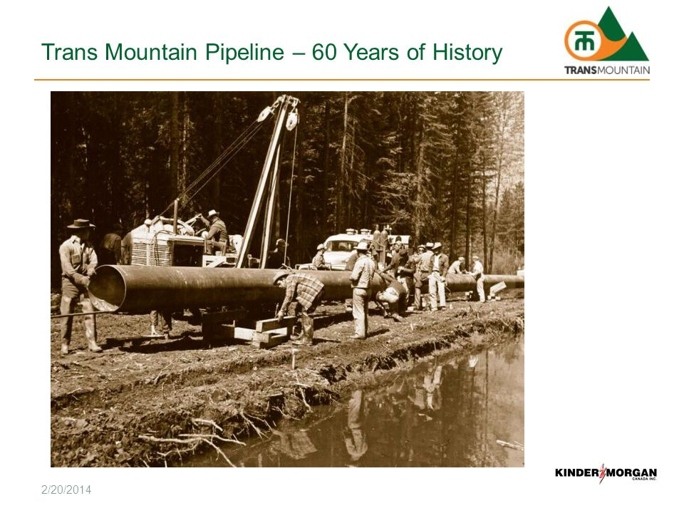 Trans Mountain Pipeline – 60 Years of History 2/20/2014