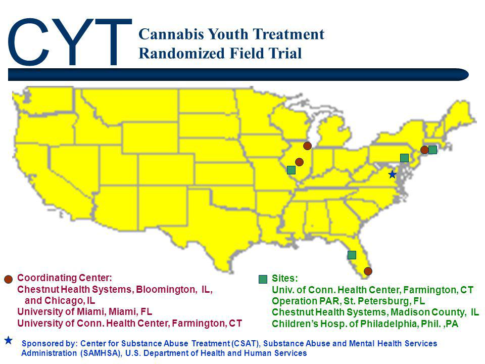 CYT Cannabis Youth Treatment Randomized Field Trial Sponsored by: Center for Substance Abuse Treatment (CSAT), Substance Abuse and Mental Health Servi