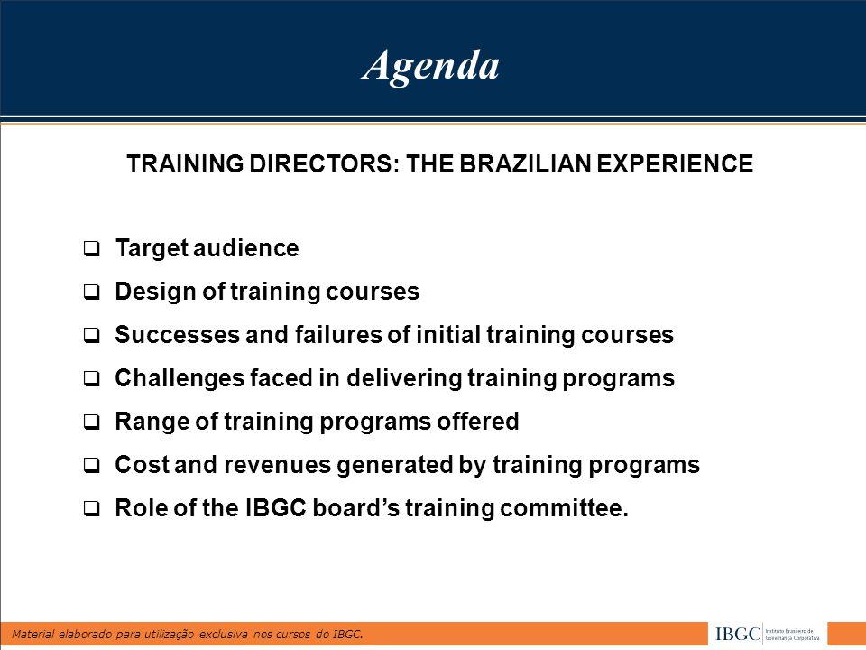 Material elaborado para utilização exclusiva nos cursos do IBGC. Annual Conferences