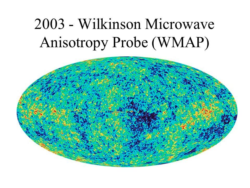 2003 - Wilkinson Microwave Anisotropy Probe (WMAP)