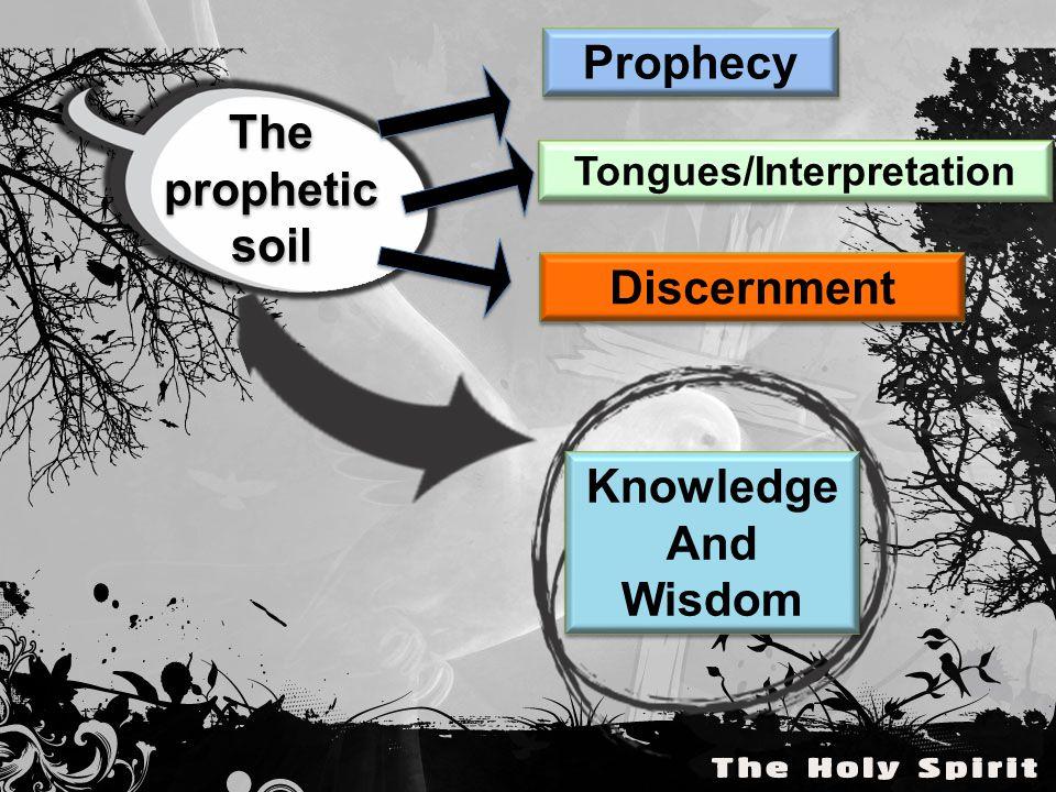 The prophetic soil The prophetic soil Prophecy Tongues/Interpretation Discernment Knowledge And Wisdom Knowledge And Wisdom