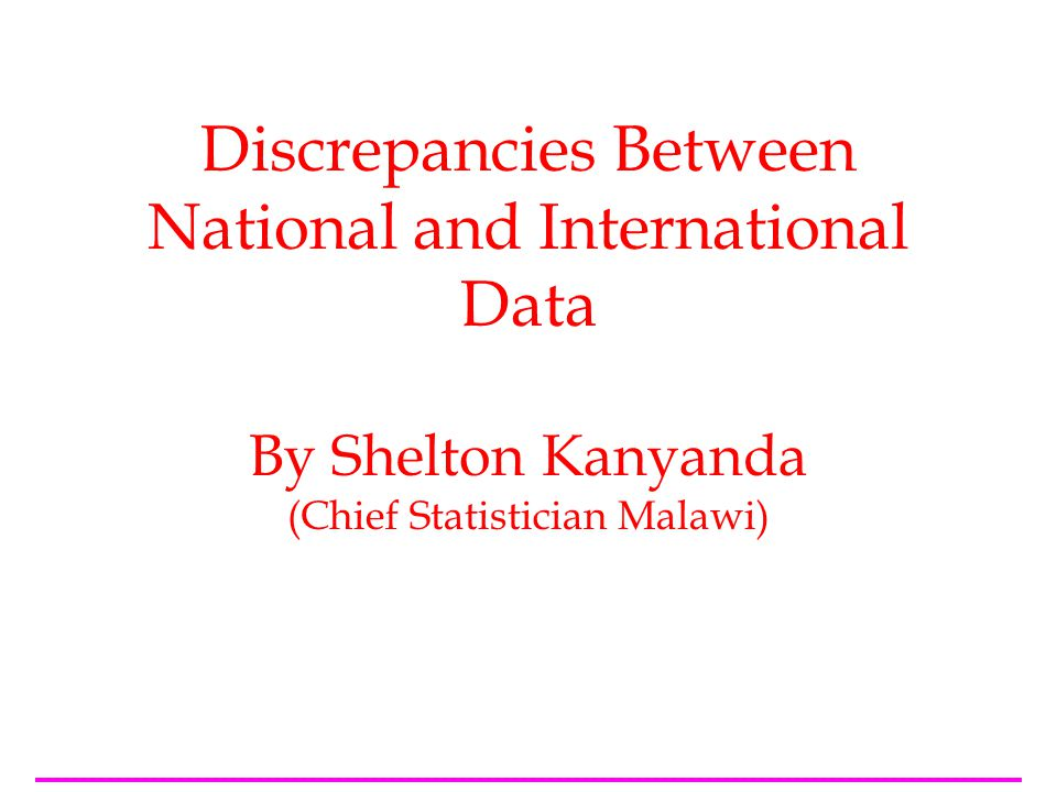 2 Outline of this presentation forms of data available –indicators 2.1 and 2.3 information on the national data sources used; consultation with countries; method of computation and/or adjustments challenges suggestions