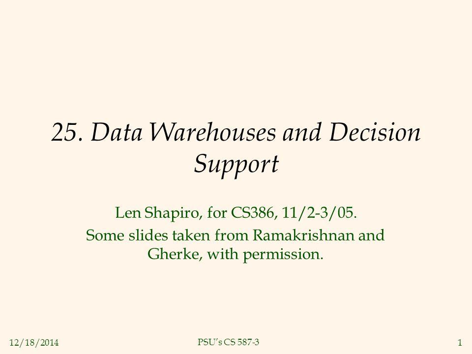 12/18/20141 PSU's CS 587-3 25.