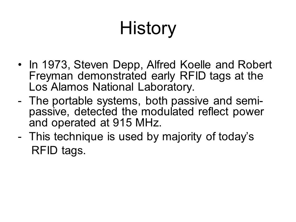 Operating Mechanism A RFID system is composed of readers and tags.