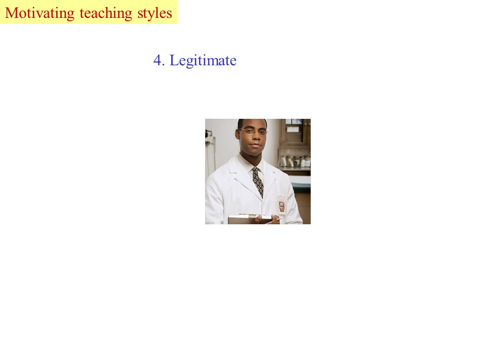 4. Legitimate LeadMotivating teaching styles