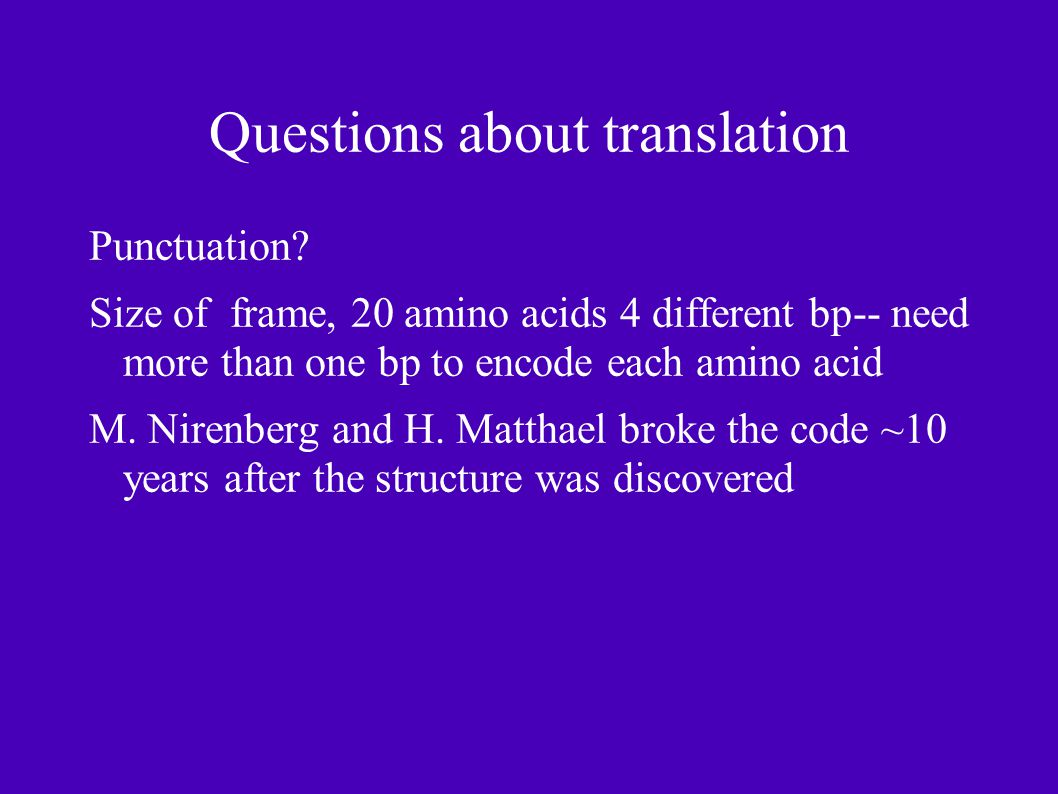 Questions about translation Punctuation.