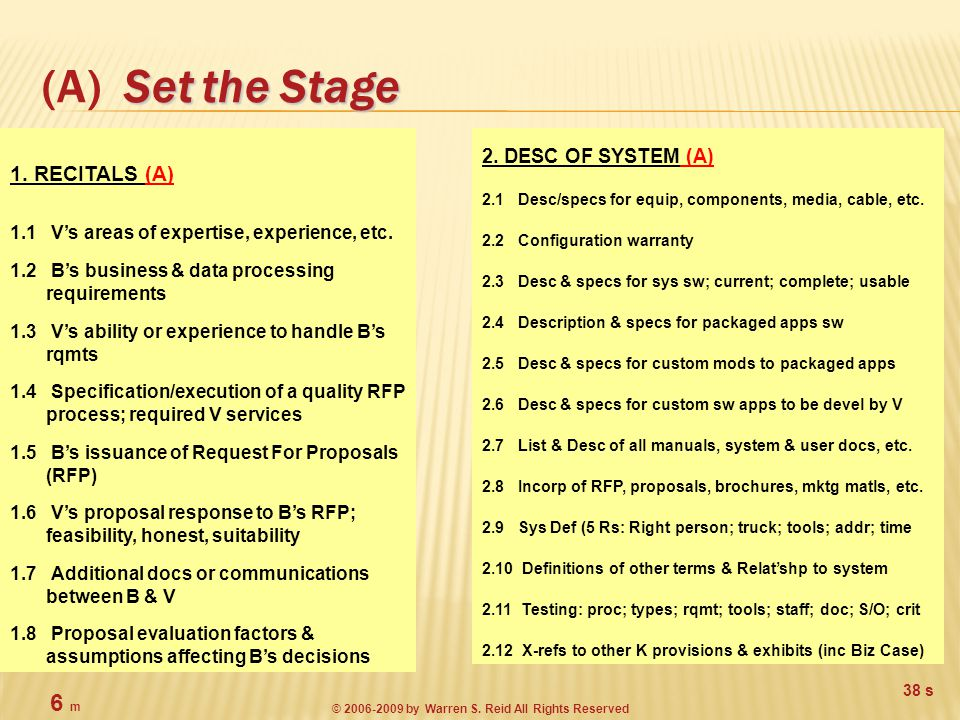 Set the Stage (A) Set the Stage 2.
