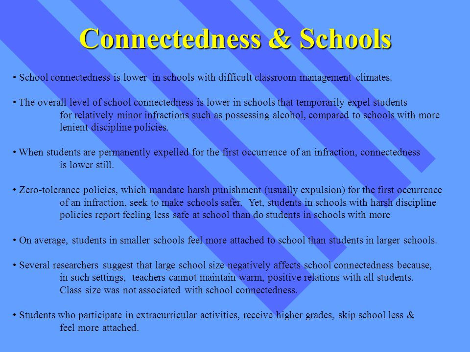 Co-Curriculars Students who participate in structured extracurricular activities, are likely to have: Higher academic achievement Higher levels of commitment to school Higher levels of attachment to school Additionally...