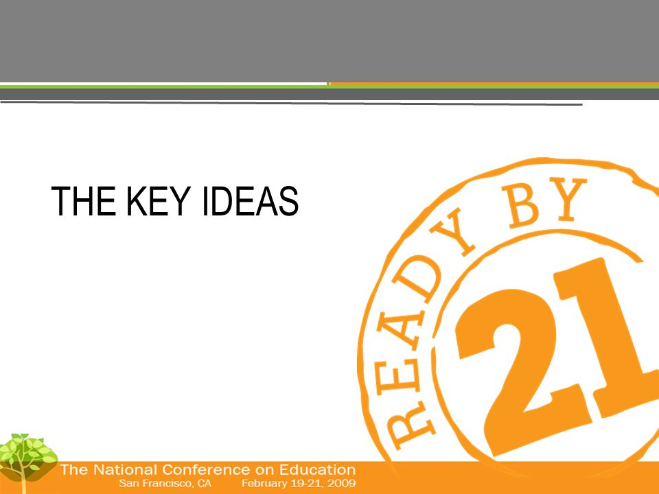© The Forum for Youth Investment 2008 THE KEY IDEAS